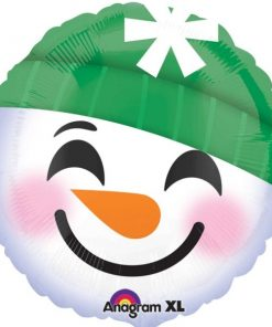 Christmas Snowman Smiley Face Balloon