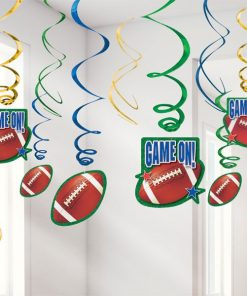 American Football Party Hanging Swirl Decorations