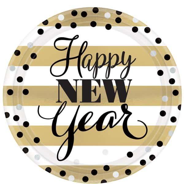 Golden New Year Tableware