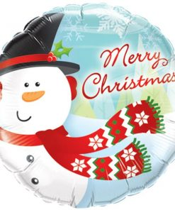 Christmas Merry Christmas Snowman Foil Balloon