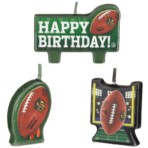 American Football Party NFL Drive Party Birthday Candles