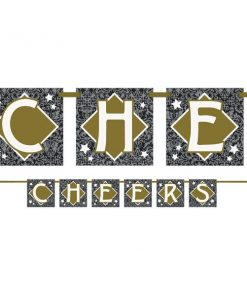 New Years Eve Party 'Cheers' Block Banner