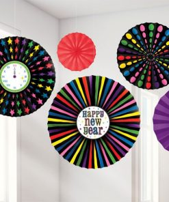 New Years Eve Paper Fans Decorations