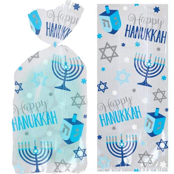 Hanukkah Playful Menorah Party Small Cello Bag