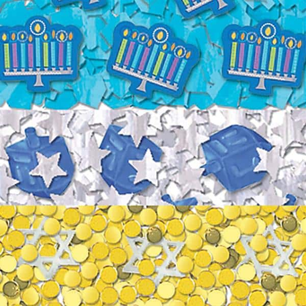 Hanukkah Playful Menorah Party Table Confetti
