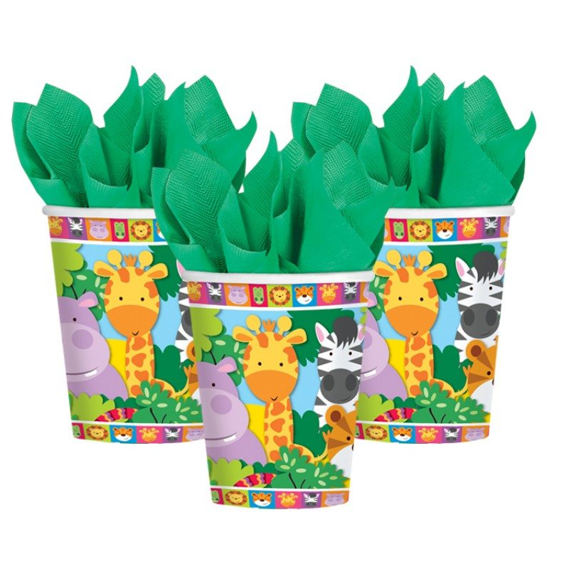 Jungle Animal Friends Party Paper Cups