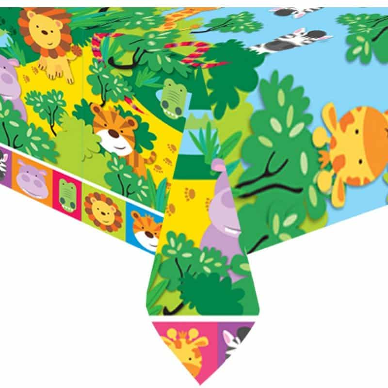 Jungle Animal Friends Party Plastic Tablecovers