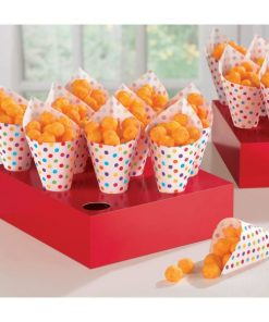Rainbow Buffet Snack Cones with Tray