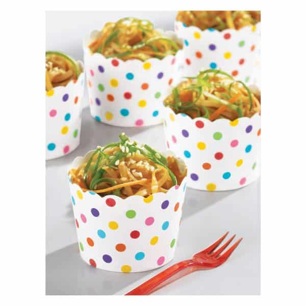 Rainbow Buffet Mini Scalloped Cups