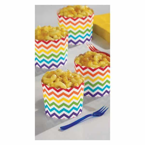Rainbow Buffet Large Scalloped Cups