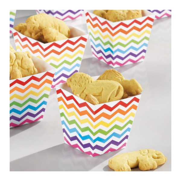 Rainbow Buffet Mini Paper Treat Cups