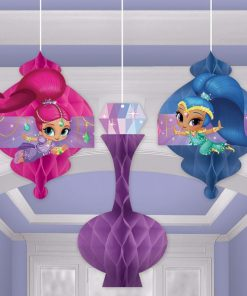 Shimmer & Shine Party Honeycomb Decorations