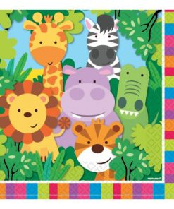 Jungle Animal Friends Party Paper Napkins