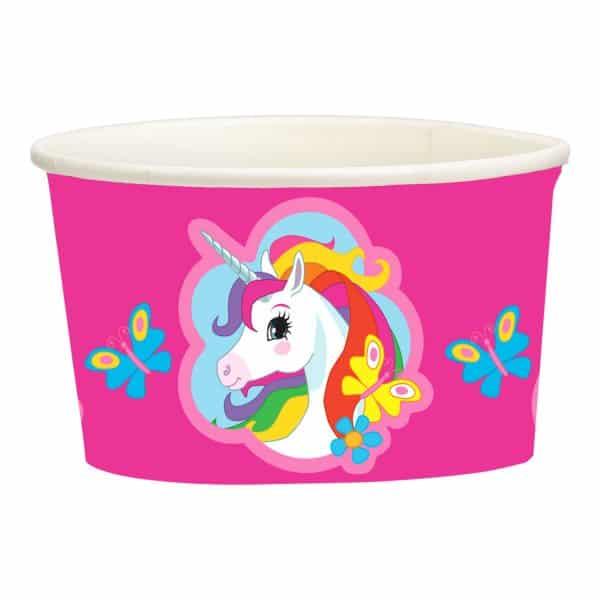 Rainbow Unicorn Paper Treat/Ice Cream Cups