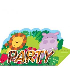 Jungle Animal Friends Party Stand-up Invitations