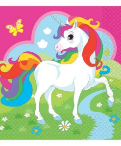 Rainbow Unicorn Party Paper Napkins