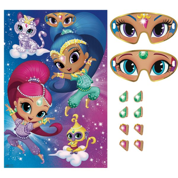 Shimmer & Shine Party Pin the Party Game