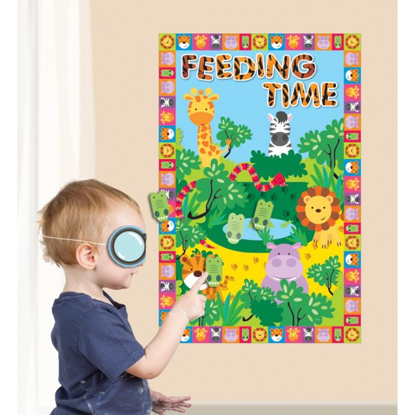 Jungle Friends Party Pin the Party Game