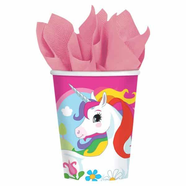 Rainbow Unicorn Party Paper Cups