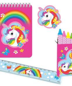 Rainbow Unicorn Party Stationery Pack