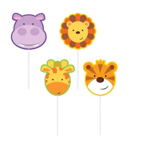 Jungle Animal Friends Party Pick Candles