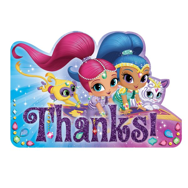 Shimmer & Shine Party Thank You Cards