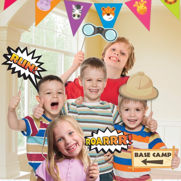 Jungle Animal Friends Party Photobooth Kit