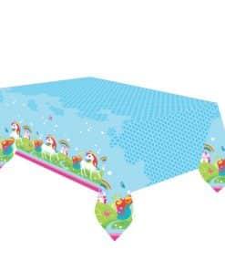 Rainbow Unicorn Party Plastic Tablecover