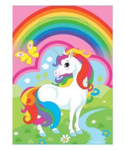 Rainbow Unicorn Party Plastic Loot Bags