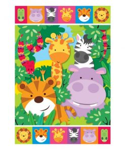 Jungle Animal Friends Party Plastic Loot Bags