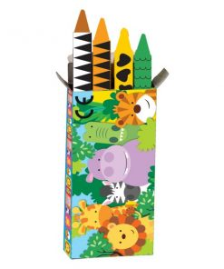 Jungle Animal Friends Party Bag Fillers - Crayons