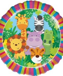 Jungle Animal Friends Party Foil Balloon