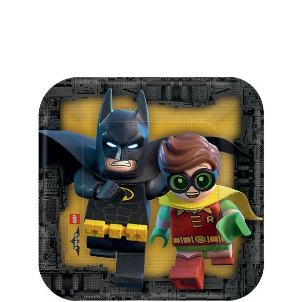 LEGO Batman Party Paper Dessert Plates