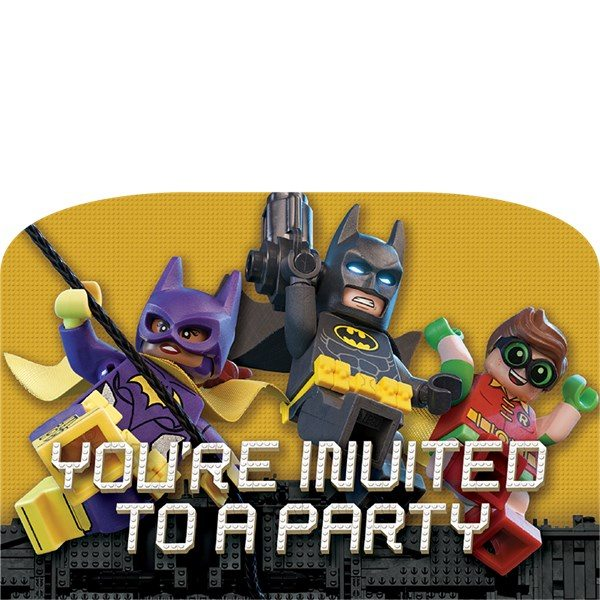LEGO Batman Party Invites