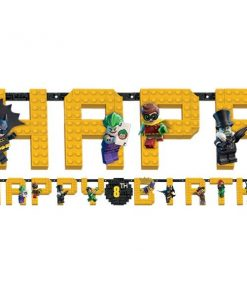 LEGO Batman Party Jumbo Add an Age Letter Banner