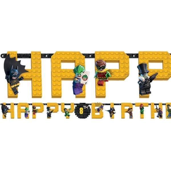 LEGO Batman Party Jumbo Add An Age Letter Banner (each
