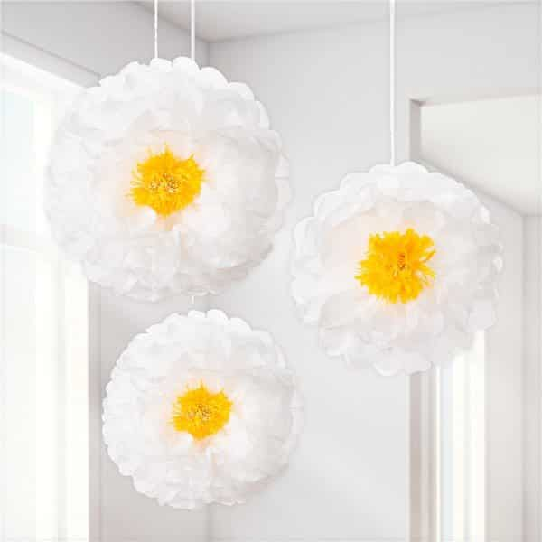 Daisy Flower Pom Pom Decorations