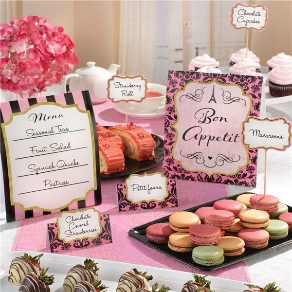 Day In Paris Party Buffet Decoration Kit