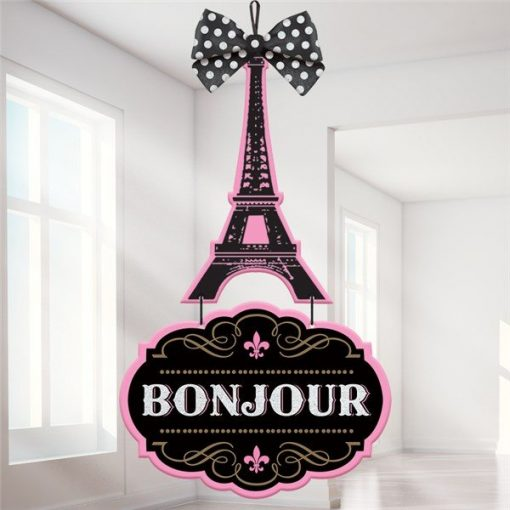 A Day in Paris Party Deluxe MDF Sign