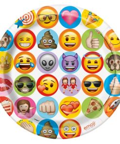 Emoji Party Paper Plates