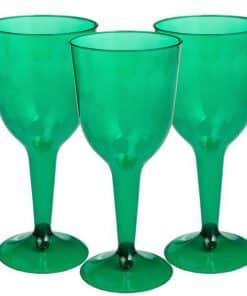 Green Plastic Wine Glasses