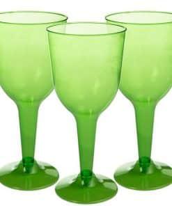 Lime Green Plastic Wine Glasses