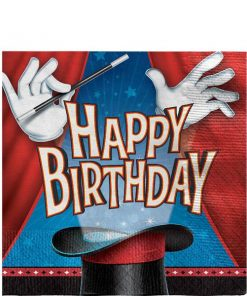 Magic Party Paper Happy Birthday Napkins