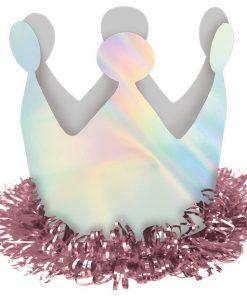 Magical Rainbow Mini Crown Hair Clip