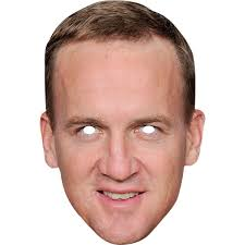 American Football Party NFL Peyton Manning Celebrity Mask