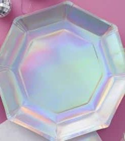 Iridescent Paper Party Plates