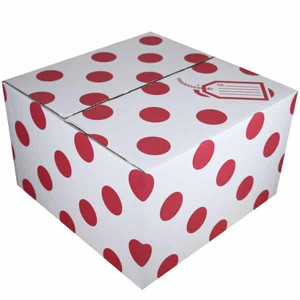 Red Polka Dot Balloon Box