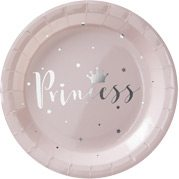 Princess Perfection Party Pink & Silver Foiled Paper Plates
