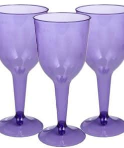 Purple Plastic Wine Glasses