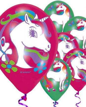 Rainbow Unicorn Party Printed Latex Balloons